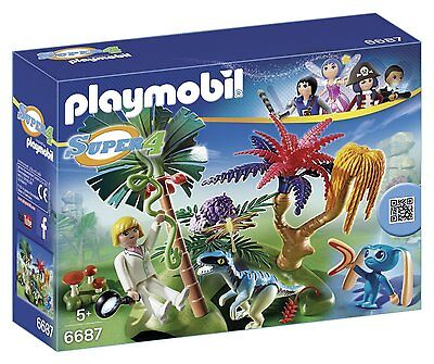 PLAYMOBIL 6687 Super 4 Lost Island Alien Raptor Ages 5+ New Toy Gift Boys Girls