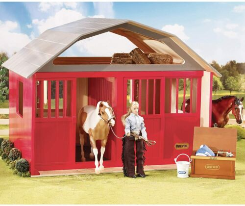 Breyer 307 Two-Stall Horse Barn 1:9 Scale Traditional Series NEW