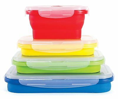 Thin Bins Food Storage Containers - Set of Collapsible Silic
