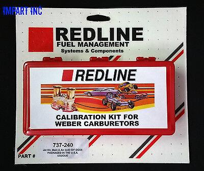 Dual WEBER 44 45 48 DCOE IDF 34-36 Venturi 2000cc and larger Redline Jet Kit