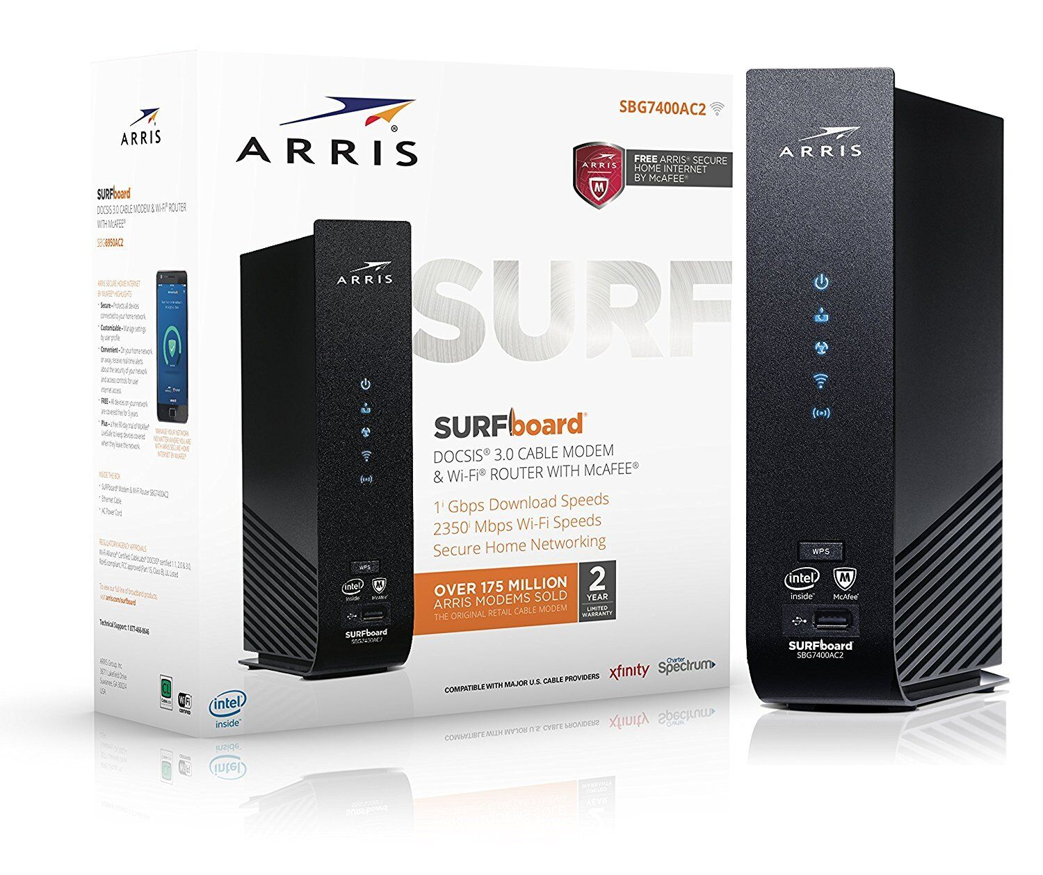 Next-Generation ARRIS SURFboard SB8200 DOCSIS 3.1 Cable Mode