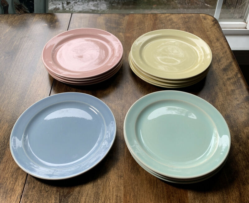 Vintage LuRay pastels, Set of 12  6 1/2 dessert plates Lot