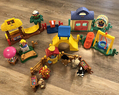 20 Piece Lot Fisher Price Little People Farm - Playground - Animals - Figures