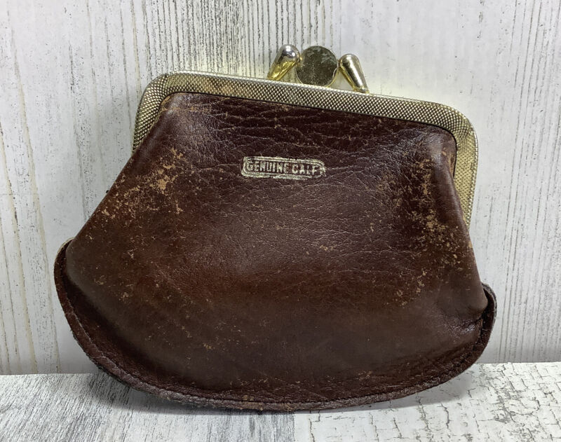 Vintage Genuine Calf Leather Change/Coin Purse