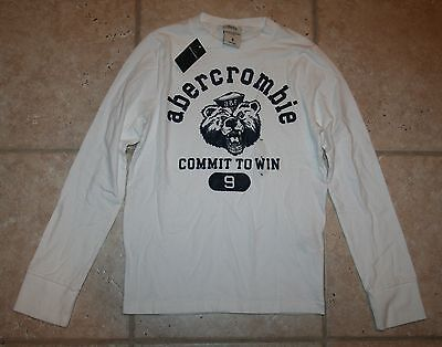 Abercrombie Boys Large Ls Muscle Fit Commit To Win T-shirt - Last One