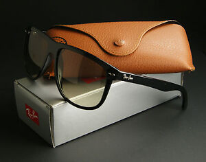 NEW-RAY-BAN-SUNGLASSES-BLACK-CRYSTAL-GRAY-GRADIENT-LENSES-RB4147-601-32-60MM