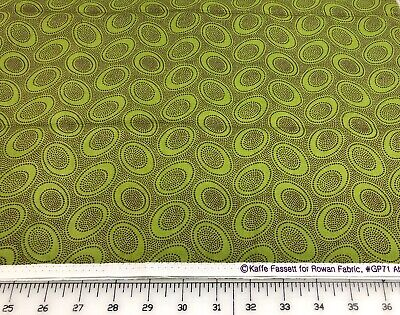 1/2 Yard Kaffe Fassett For Rowan Westminster Fibers GP71 Aboriginal Dot, Olive