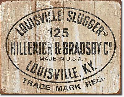 Louisville Slugger Logo Bats Baseball Metal Sign Tin New Vintage Style USA #1866