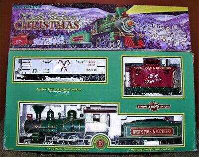 Bachmann Night Before Christmas G Scale Locomotive Train Set - Incomplete