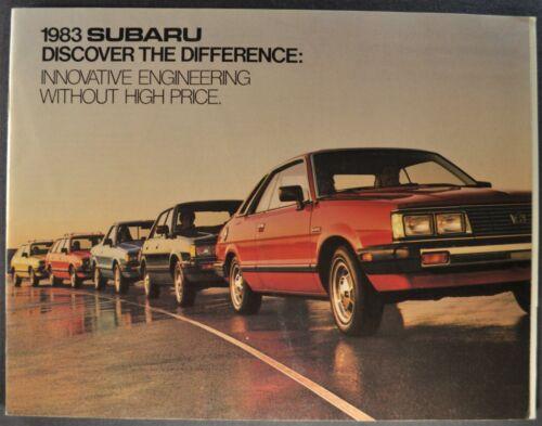 1983 Subaru 28pg Brochure GL Hatchback Hardtop Wagon Brat 4x4 Excellent Original