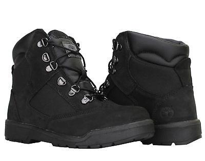 Timberland 6-Inch Field Boot Black Nubuck Junior Big Kids Boots 44990