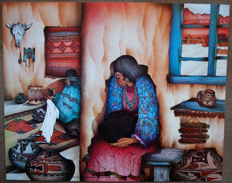 "Amado Pena Mini Prints ""After Maria San Ildefonso"" 1986 (7630) 8x10"