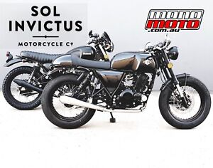 2021 250 MERCURY MK2 CAFE RACER SOL INVICTUS RIDE AWAY PRICE Brand New 2yr WTY Brendale Pine Rivers Area Preview