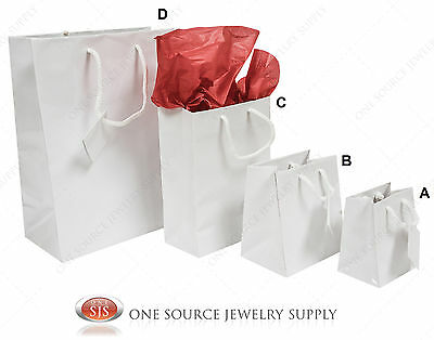 Gift Bags White Gloss Tote Party Supplies Paper Gift Bags Holiday Bags Wedding
