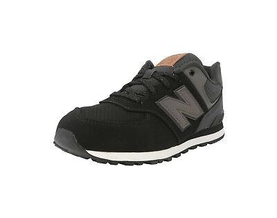 New Balance Shoes Kids Grade School Sneakers KL574YAG - Black/Gray