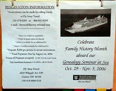 GENEALOGY SEMINAR AT SEA, 2006 - Mariner of the Seas, Royal Caribbean