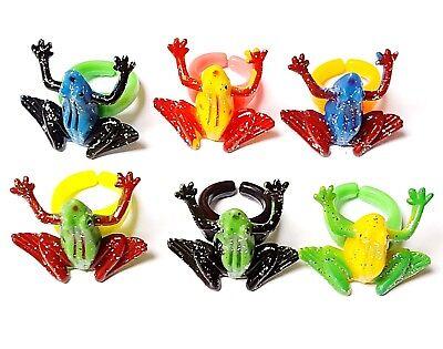 12PC colorful Frog Ring KID Birthday party Favor Pinata Bag Filler gag Carnival - Frog Pinata