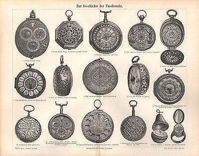 Taschenuhr Taschenuhren Eiuhr Ringuhr Uhren Peter Henlein Stich v. 1898