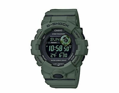Casio G-Shock Olive Green Step Tracker – Bluetooth – Digital Watch GBD800UC-3