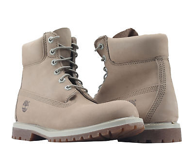Timberland 6-Inch Premium Waterproof Off White Nubuck Women'