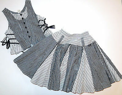 Jottum Euro boutique stripe Trixy skirt EDELIJN vest top shirt 134/140 8 9 10 Euro Kids Boutique