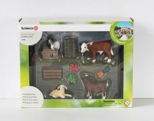 NEW Schleich Farm Life 21052 Baby Animals Goat Lamb Calf Rabbit
