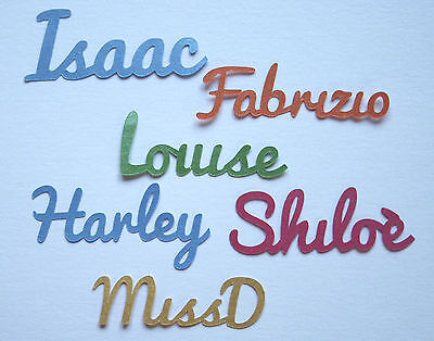 Personalised Script Name Table Confetti Script Birthday Christening