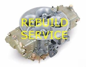 HOLLEY & BG Carb Rebuild Service 4500 Dominator 1050 1150