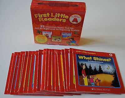 Lot 25 Level A First Little Easy Readers BOX SET Kindergarten Grade 1 Homeschool