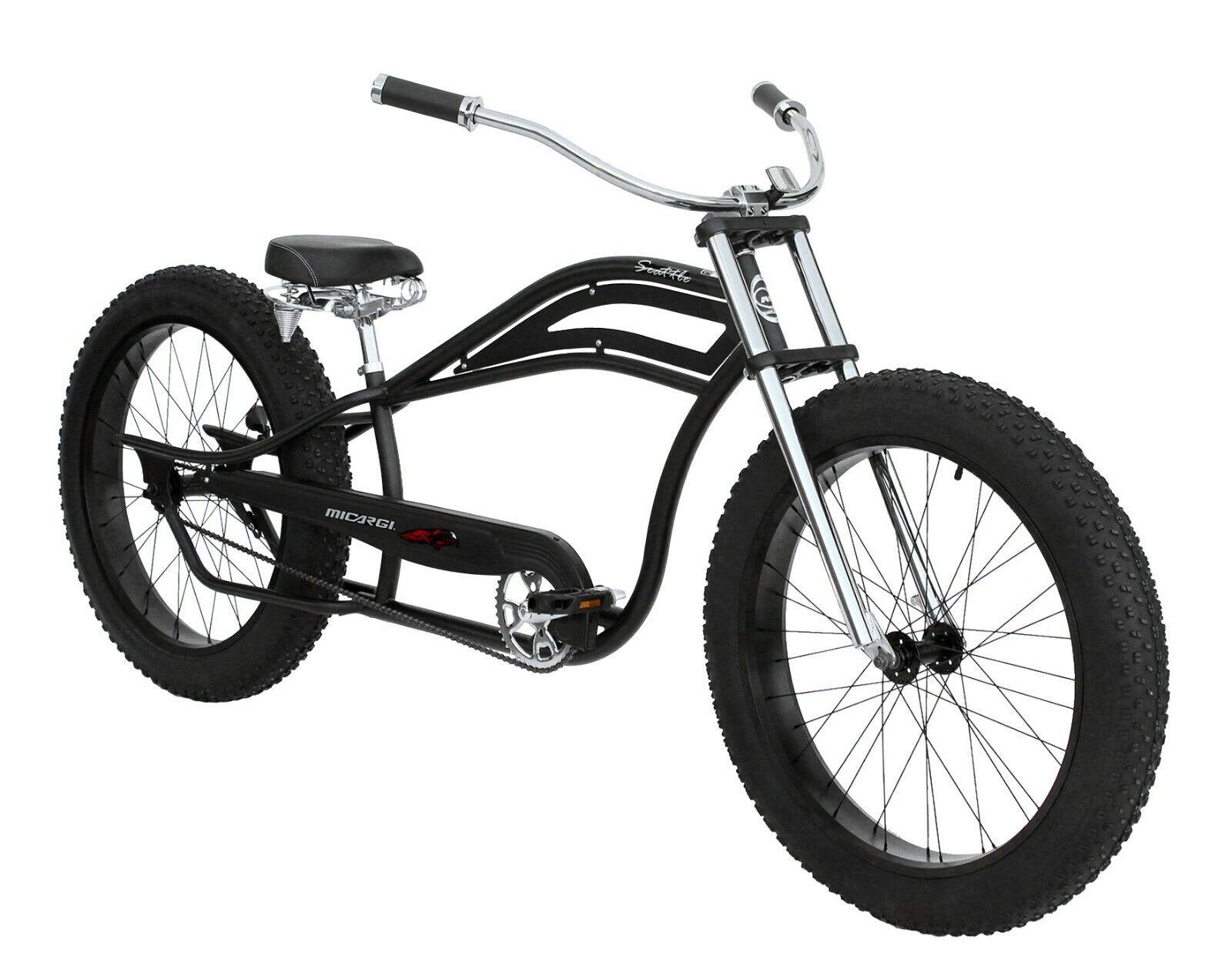 "26"" Beach Cruiser Bicycle Retro Fat Tire Single Speed Stretc"