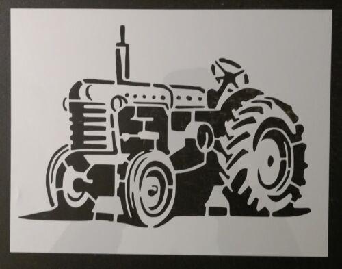 "Farm Tractor 11"" x 8.5"" Custom Stencil FAST FREE SHIPPING"