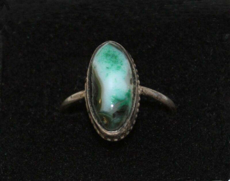 Beautiful Vintage Turquoise and Silver Ring 8.75 8 3/4 May Be Bisbee