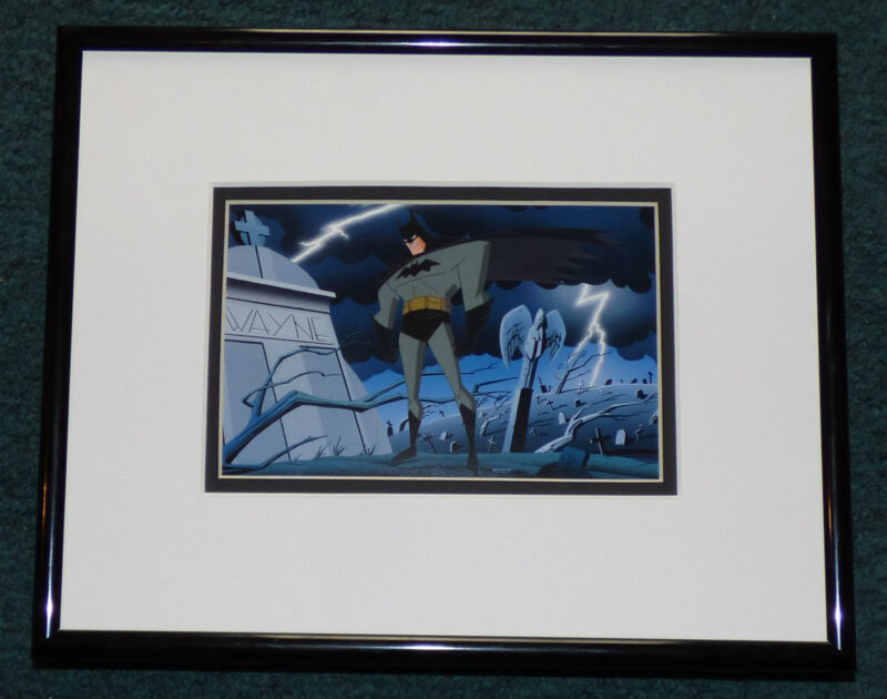 BATMAN THE ANIMATED SERIES VENGEANCE BEGINS  FRAMED CEL PROMO CARD WARNER BROS