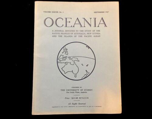 OCEANIA JOURNAL SEPTEMBER 1967 MALANGGAN AND MEMAI IN NEW IRELAND  NEW GUINEA
