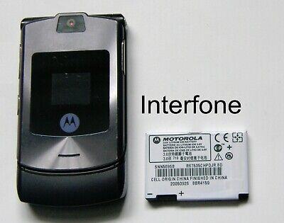 Motorola V3i Mobile Phone-Locked to Orange UK-Exc.Cond-Optional Charger Bundle