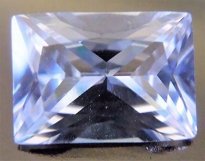 Baguette Radiant Cut 10x14 mm Rare 8.7 ct VVS White Sapphire Solitaire Gem