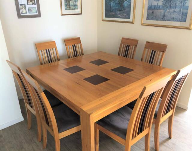 Dining Table and Chairs x 8 | Dining Tables | Gumtree ...