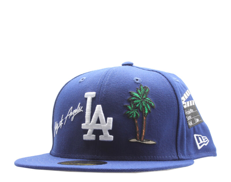 New Era 59Fifty MLB Los Angeles Dodgers The Icon-Area Code Fitted Hat 12571719