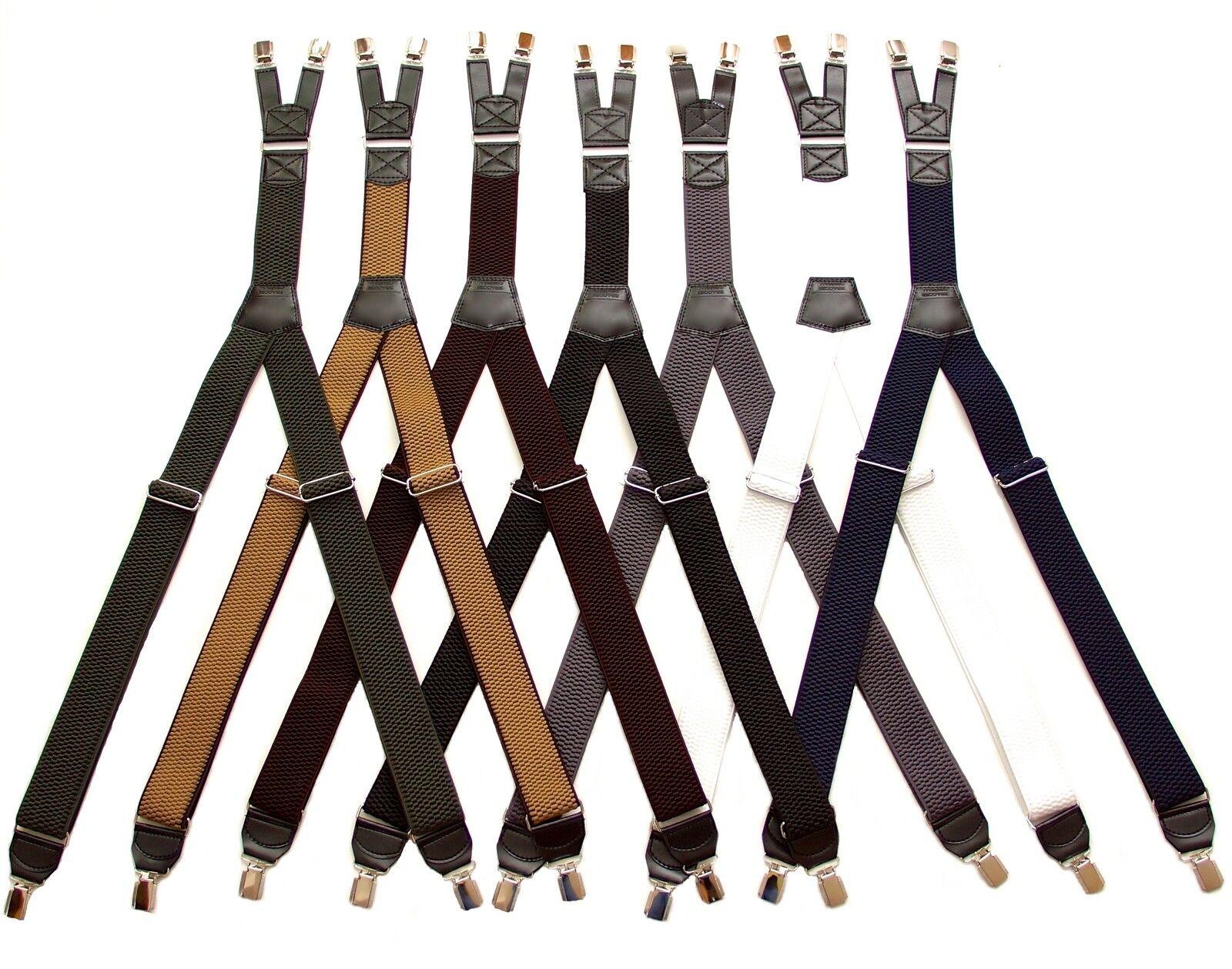HOSENTRÄGER eXtra stark mit Doppel-Clip 4cm Breit für Hosen Jeans °NEU°