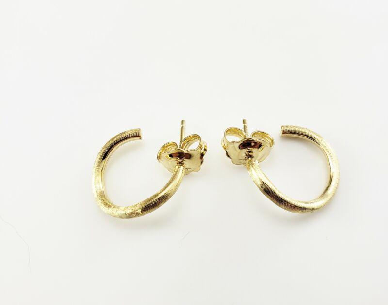 Vintage Marco Bicego Jaipur 18 Karat Yellow Gold Hoop Earrings #9587