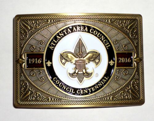Atlanta Area Council 100th Anniversary BSA Belt Buckle - Egwa Tawa Dee Lodge