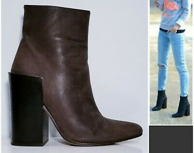 """ACNE STUDIOS """"RUNWAY TESS"""" NUBUCK ANKLE SHOES BOOTIES BOOTS $680 38 US-7.5 7 1/2"""