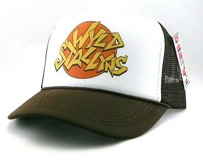 Wyld Stallyns Trucker Hat mesh hat snapback hat brown Bill and Ted movie hat (Brown Hat)
