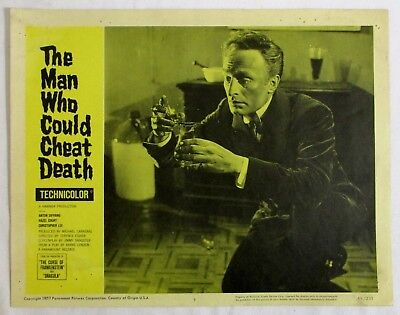1959 VINTAGE HORROR Original LOBBY CARD Poster THE MAN WHO COULD CHEAT DEATH