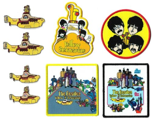 The Beatles Yellow Submarine LP Vinyl Record Album Cover Patch Lot of 8 Patches