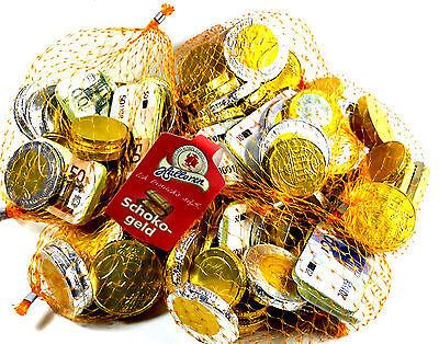 Schokogeld von Halloren  5 x 150g.=750g Netze / Karneval / Wurfmaterial / Pinata
