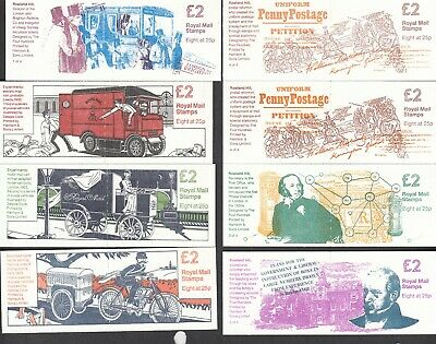 GB GREAT BRITAIN MACHIN 2LB BOOKLETS SG FW1-FW8 COMPLETE SERIES VFNH