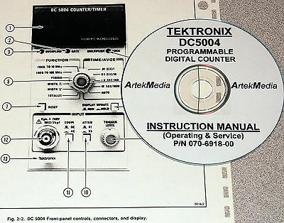 Tek Tektronix Dc5004 Counter Instruction Ops-service Manual