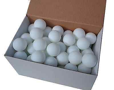 75 TT-Bälle Tischtennisbälle 38mm weiss o Aufdruck stabile Qual. (mit Rg aus D)