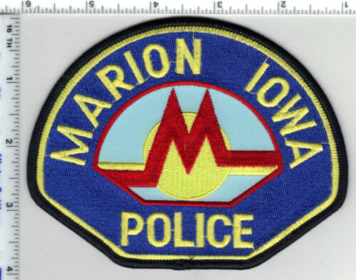 Marion Police (Iowa) Shoulder Patch - new from the 1980
